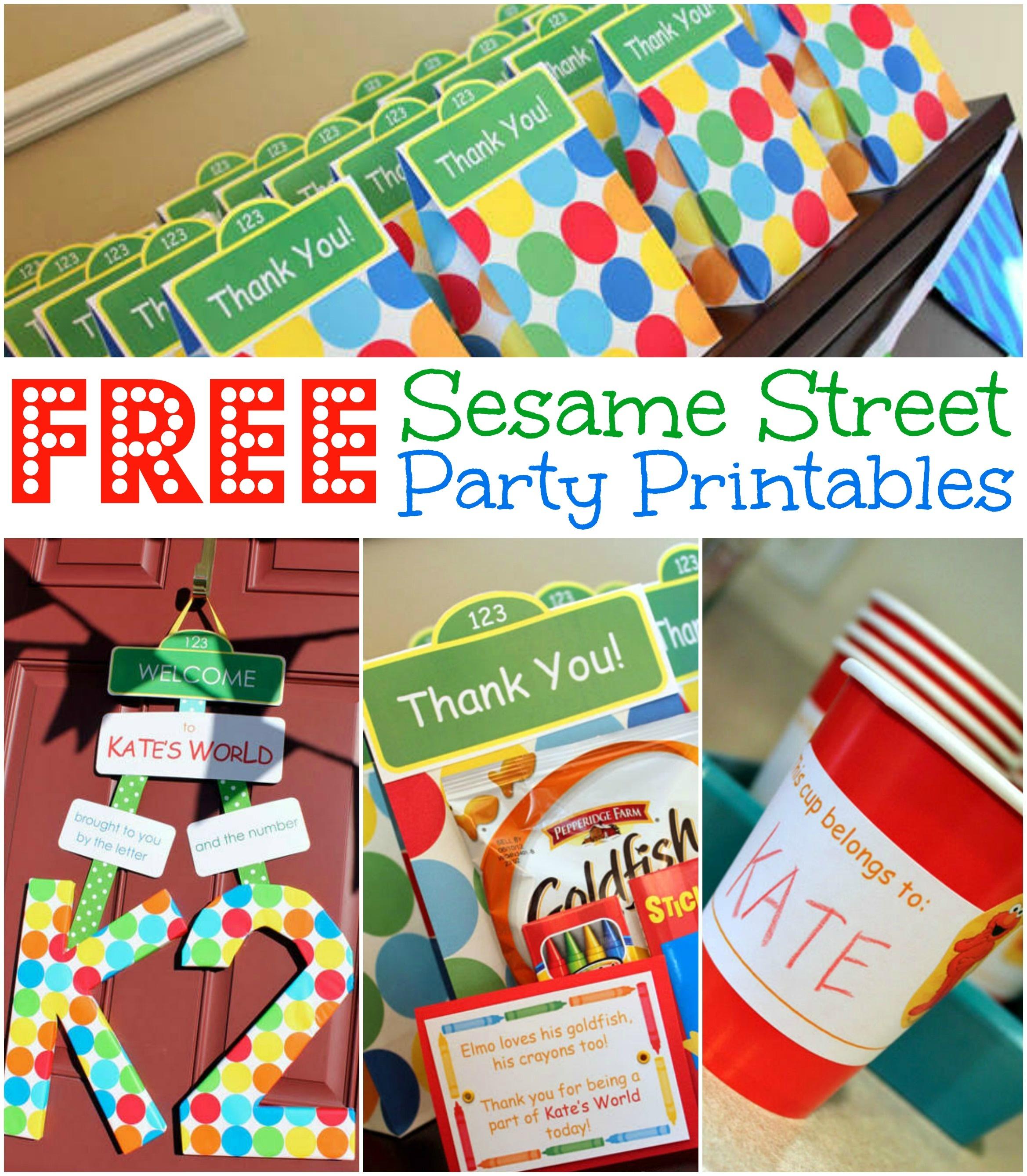 Free Sesame Street Birthday Party Printables - Free Printable Sesame Street Sign Template