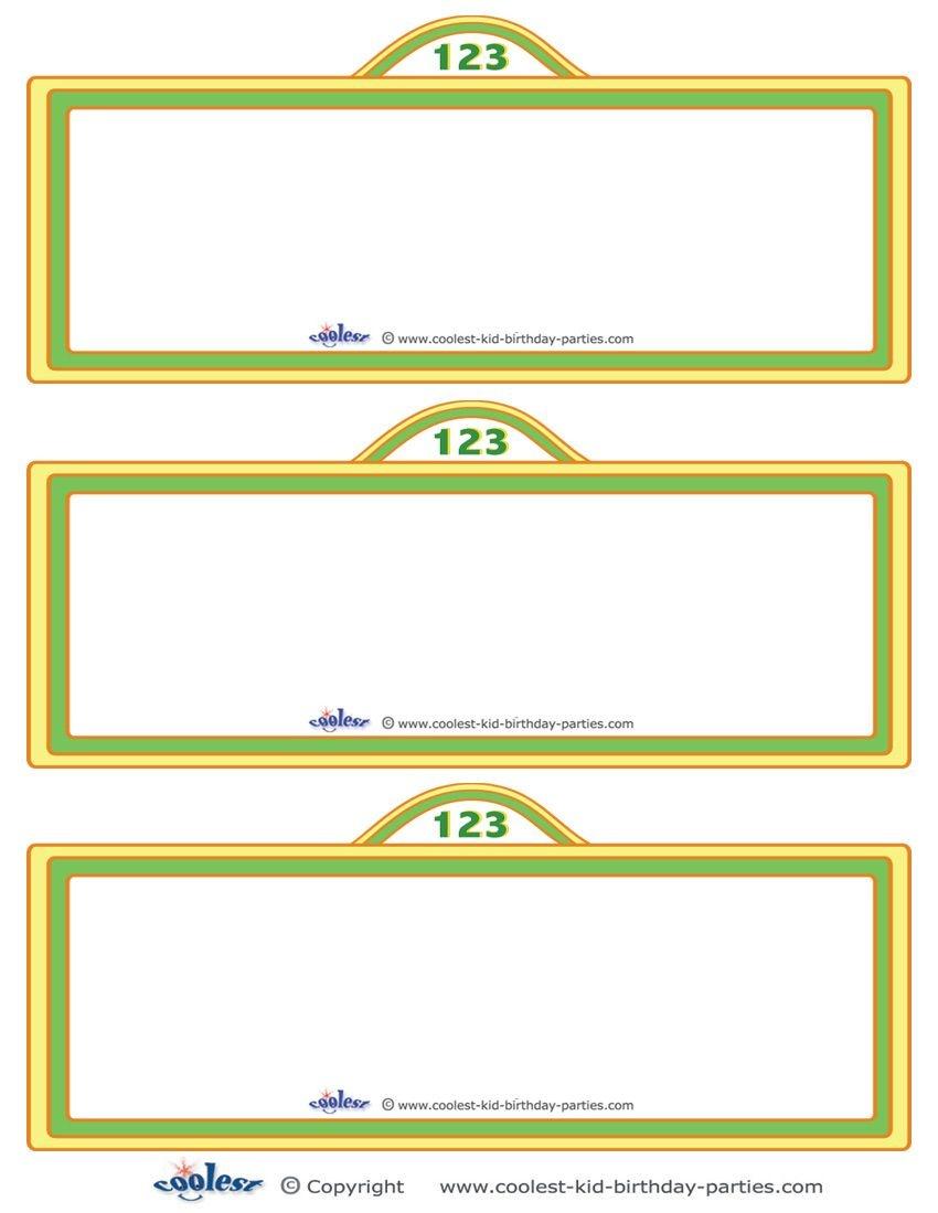 Free Sesame Street Templates |  Printable Sesame Street Sign - Free Printable Sesame Street Sign Template