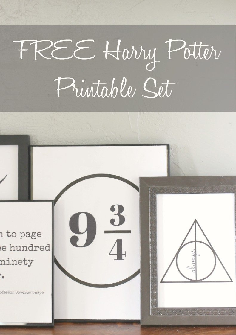 Free Set Of Harry Potter Printables – Salty Willows - Free Harry Potter Printables