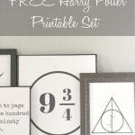 Free Set Of Harry Potter Printables – Salty Willows   Free Printable Harry Potter Pictures