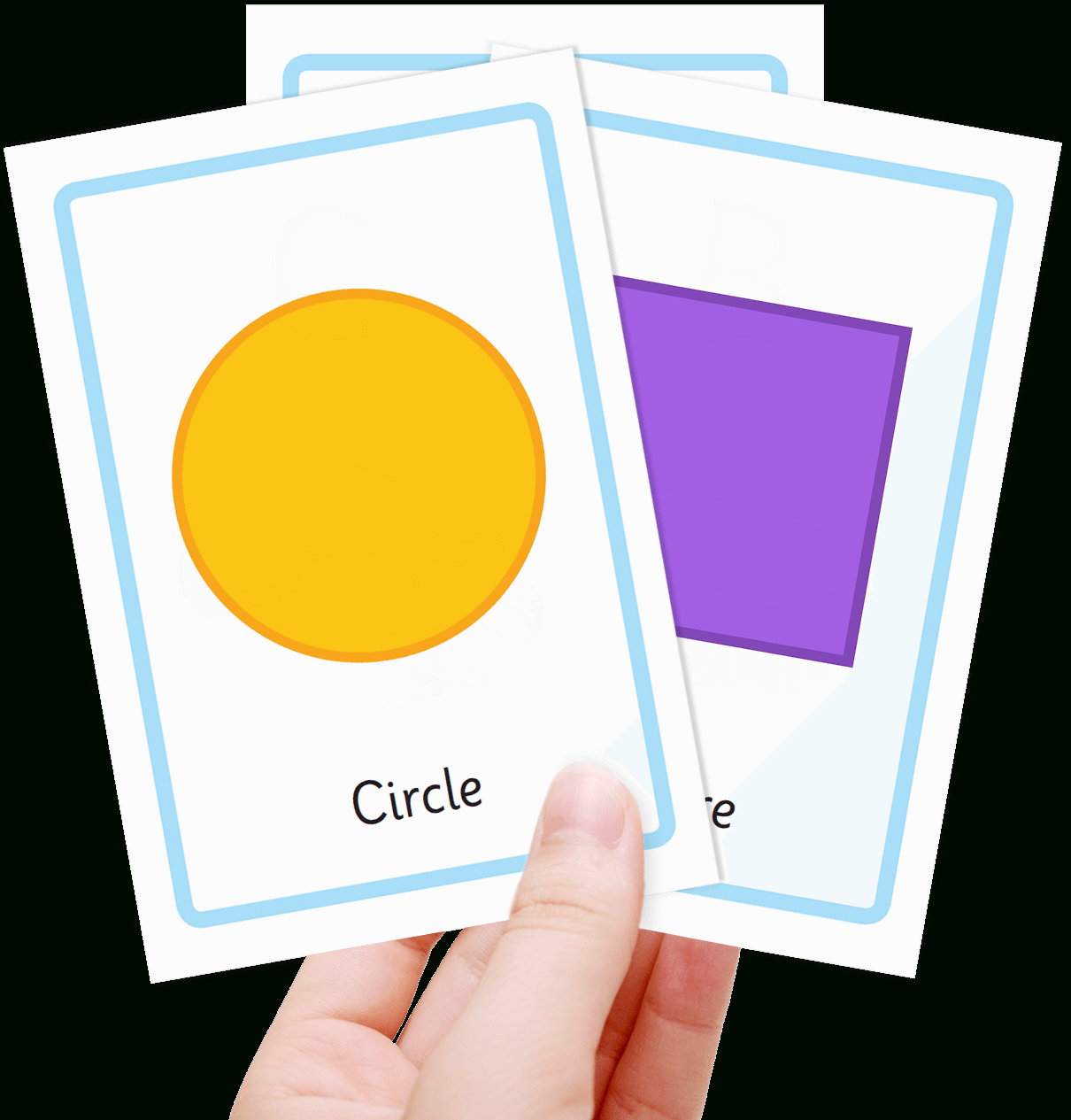 Free Shape Flashcards For Kids - Totcards - Free Printable Flash Cards