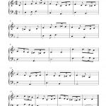 Free Sheet Music Scores: Free Piano Sheet Music Notes, Greensleeves   Free Printable Sheet Music For Piano