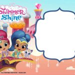 Free Shimmer And Shine Invitation | Party  Toons N Z | Free   Shimmer And Shine Free Printables