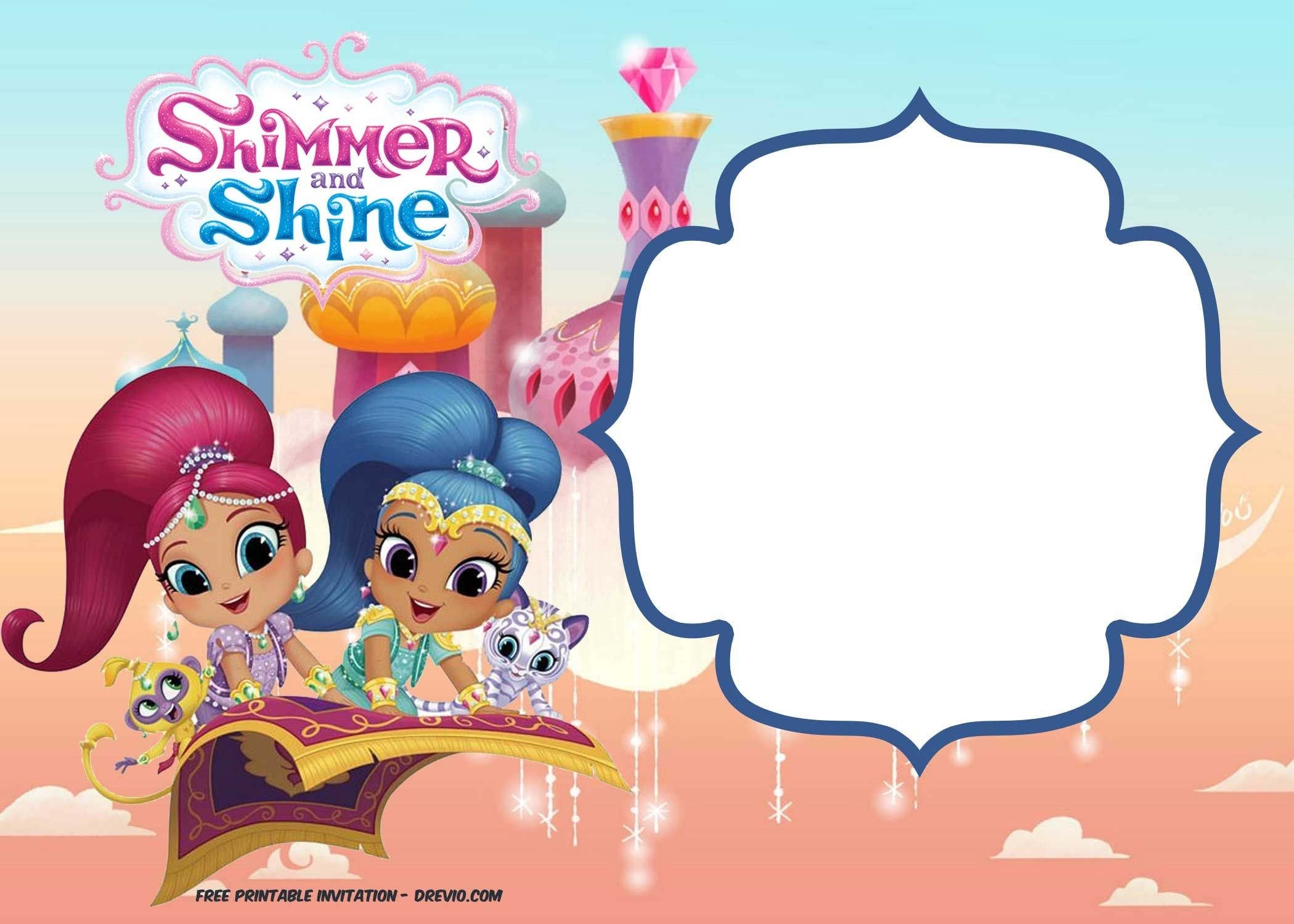 Free Shimmer And Shine Invitation   Party- Toons N-Z   Free - Shimmer And Shine Free Printables
