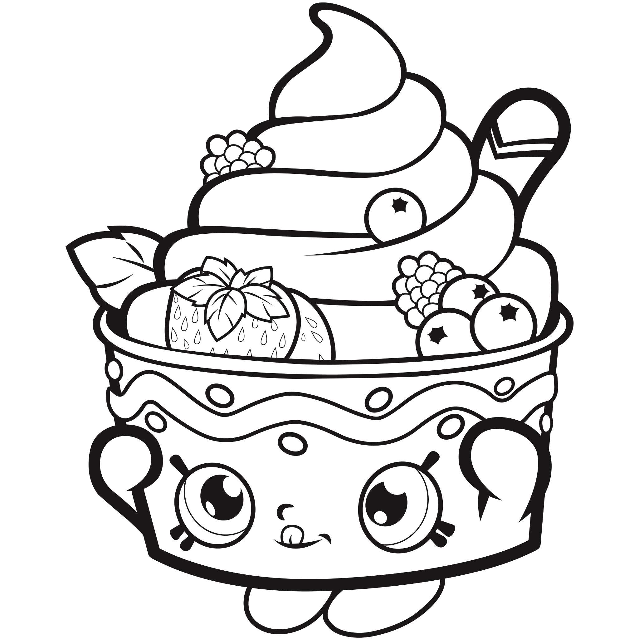 Free Shopkins Coloring Pages - Coloring Pages For Kids - Free Shopkins Coloring Printables