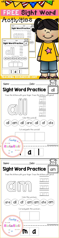 Free Sight Word Activities (Primer) | Ed Sight Words | Preschool - Free Sight Word Printables