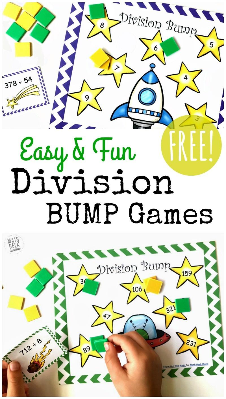 Free Simple Printable Division Games {1-2 Digit Divisors} - Free Printable Maths Games