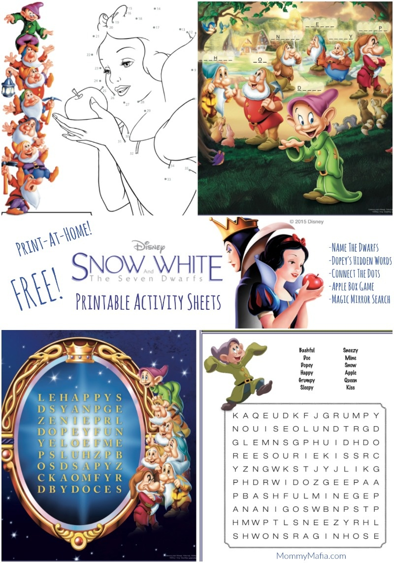 Free Snow White Printables: Activity Pages, Games And More - Mommy Mafia - Free Disney Activity Printables