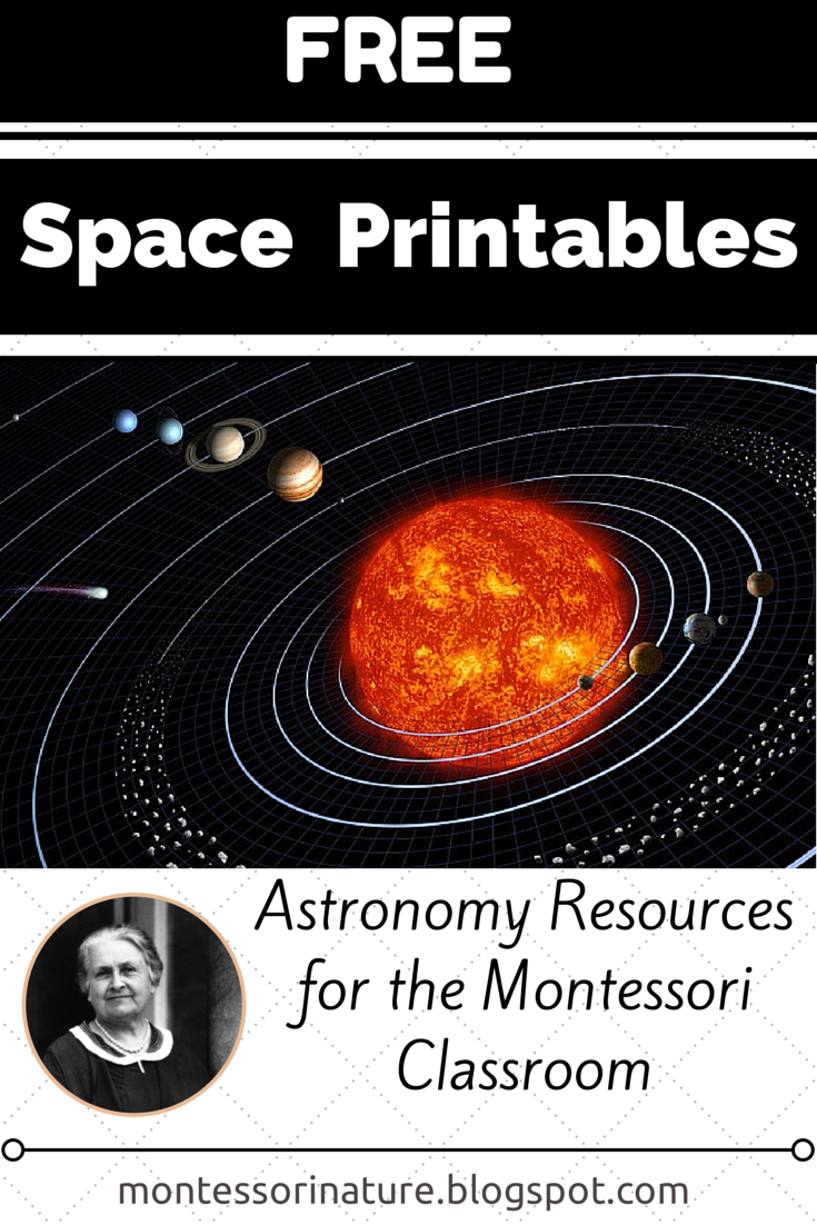Free Space Printables || Astronomy Resources For The Montessori - Free Printable Solar System Flashcards