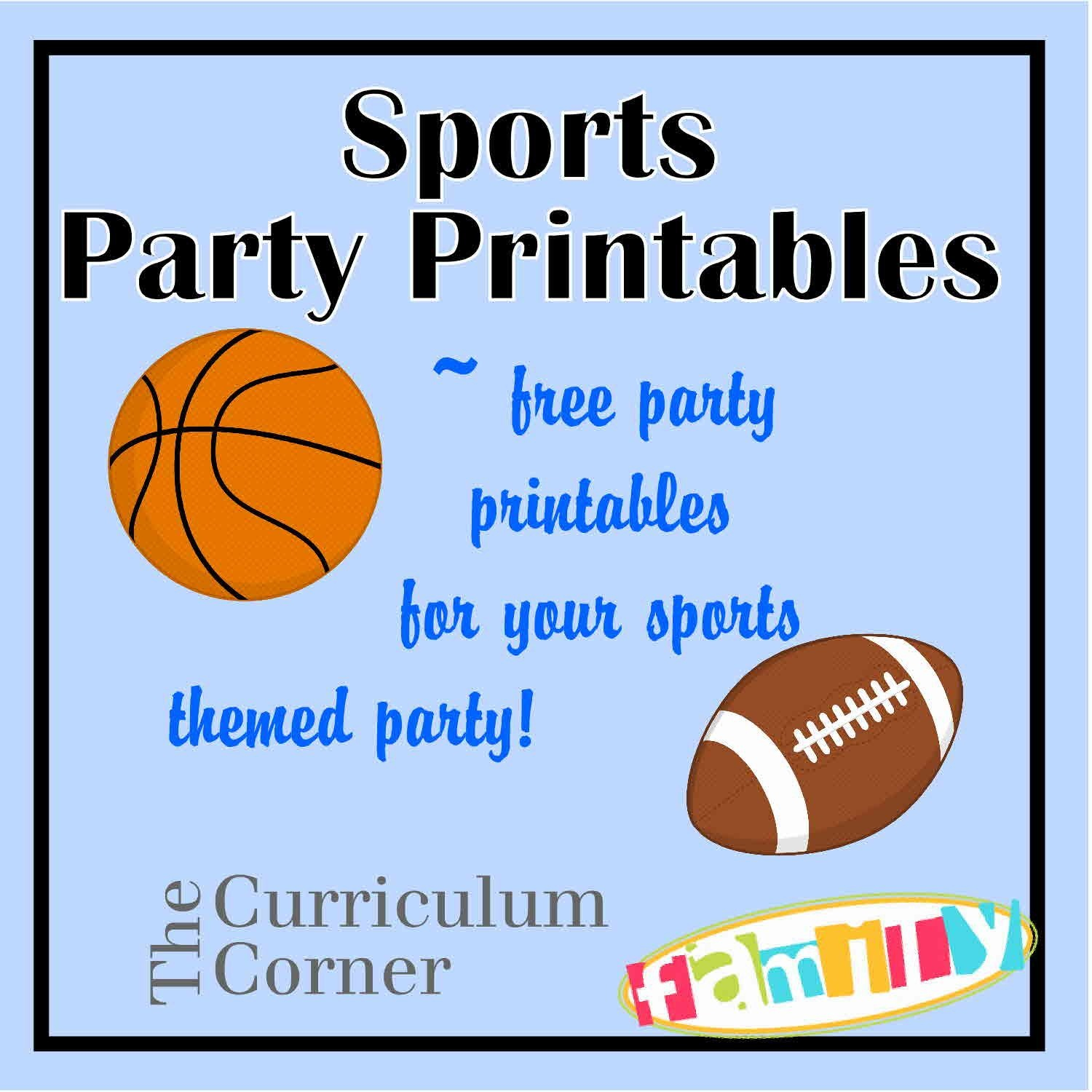 Free Sports Party Printables Include Candy Bar Wrappers, Water - Sports Birthday Cards Free Printable