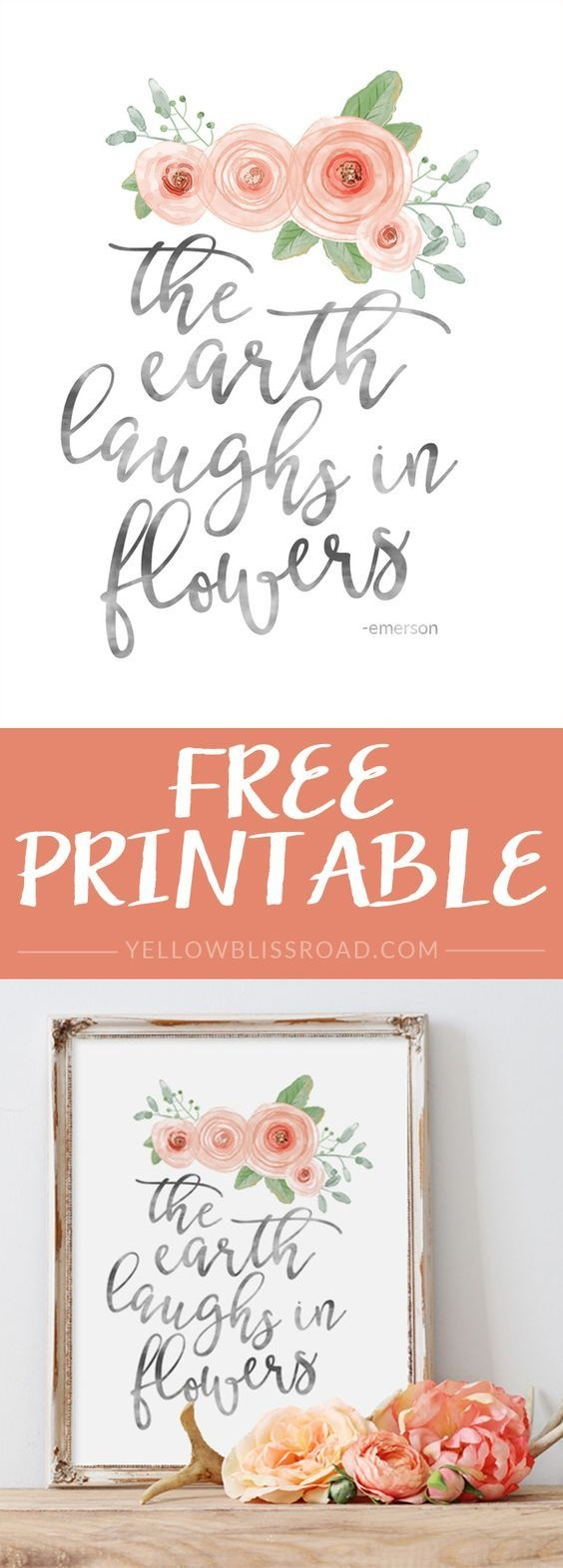 Free Spring Printable   Printables   Spring Art, Printables, Free - Free Printable Spring Decorations