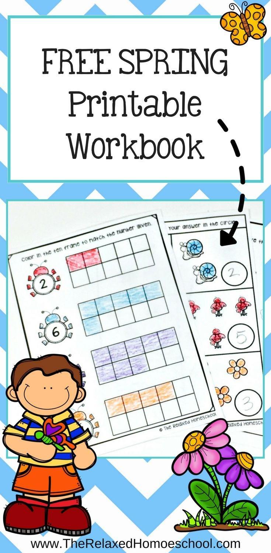 Free Spring Printable Workbook | Free Worksheets For Kids - Free Printable Math Workbooks