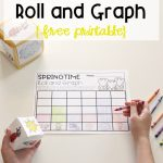 Free Spring Roll And Graph Math Activity For Preschool And Kindergarten   Free Printable Graphs For Kindergarten