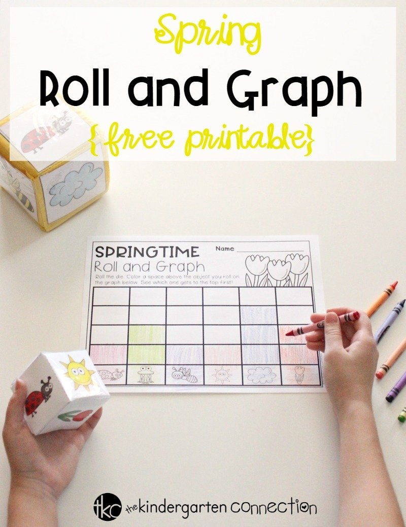 Free Spring Roll And Graph Math Activity For Preschool And Kindergarten - Free Printable Math Centers