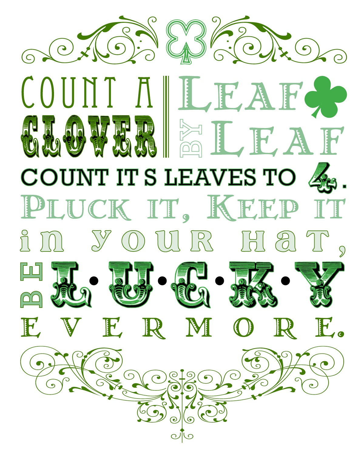 Free St Patrick Day Printables And Subway Art - Free St Patrick's Day Subway Art Printables