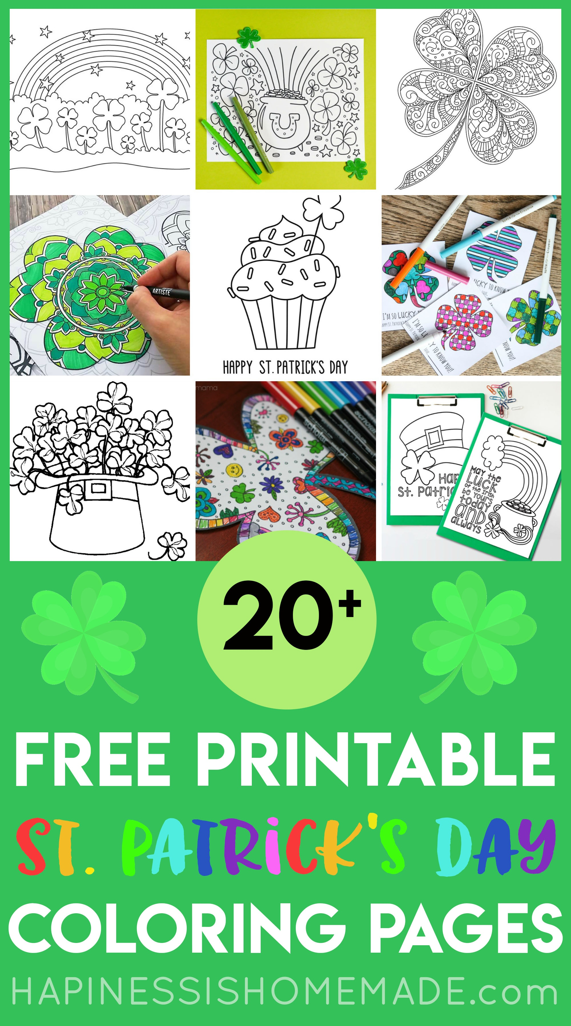 Free St. Patrick's Day Coloring Pages - Happiness Is Homemade - St Patrick's Day Printables Free