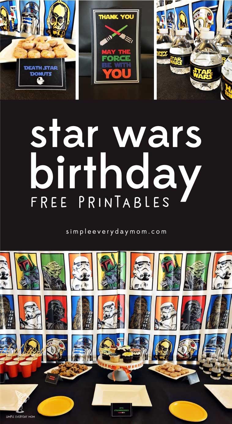 Free Star Wars Party Printables: A No-Stress Way To A Galactic Party - Free Star Wars Printables