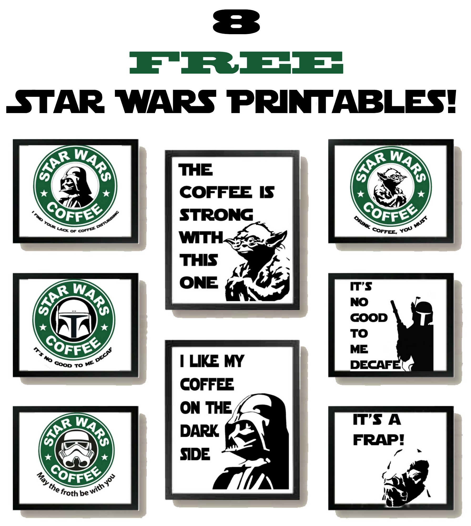 Free Star Wars Printables With A Coffee Theme! - Some Of This And That - Free Star Wars Printables
