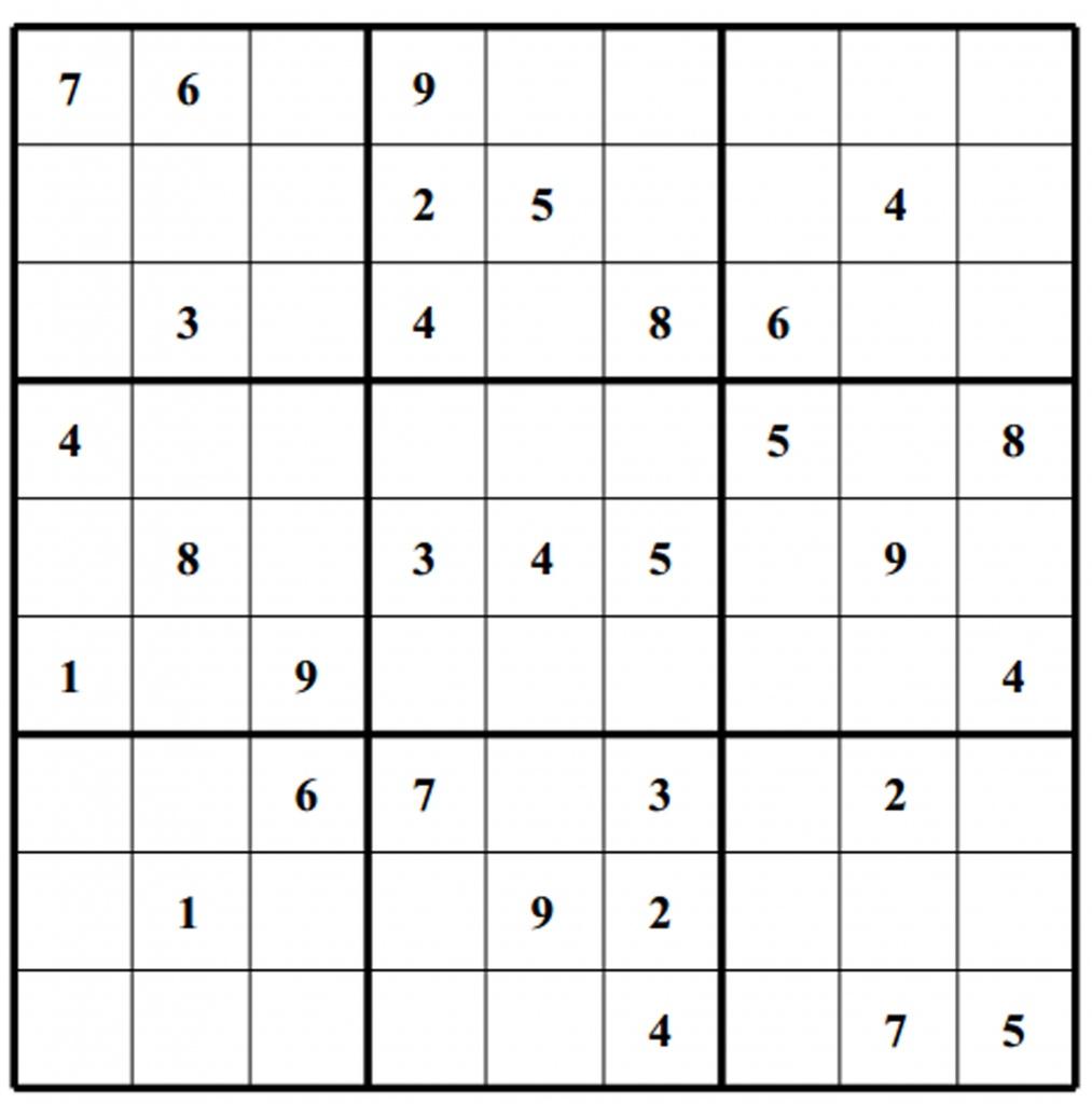 Free Sudoku Puzzles | Enjoy Daily Free Sudoku Puzzles From Walapie - Free Printable Suduko