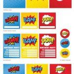 "Free Superhero Party Printables Including ""happy Birthday"" Banner   Free Superhero Party Printables"