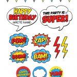 Free Superhero Pary Printables | Superhelden   Superhero Birthday   Free Superhero Party Printables