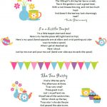 Free Tea Party Poems Printable Downloadable Pdf File | Tea Party   Free Tea Party Printables