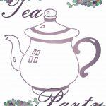 Free Tea Party Printables | Tea Time   Tea Party   Tea Everything   Free Tea Party Printables