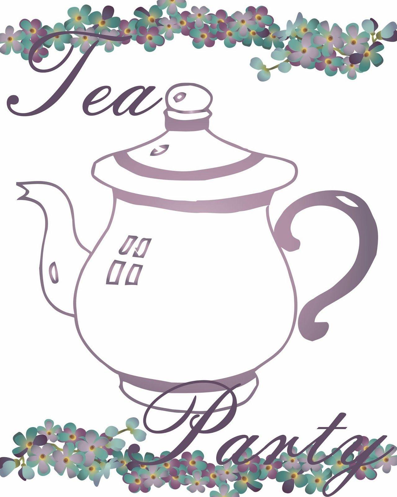 Free Tea Party Printables | Tea Time - Tea Party - Tea Everything - Free Tea Party Printables