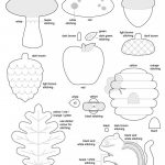 Free Template For Felt Woodland Creatures Pattern | Christmas   Free Printable Woodland Animal Templates