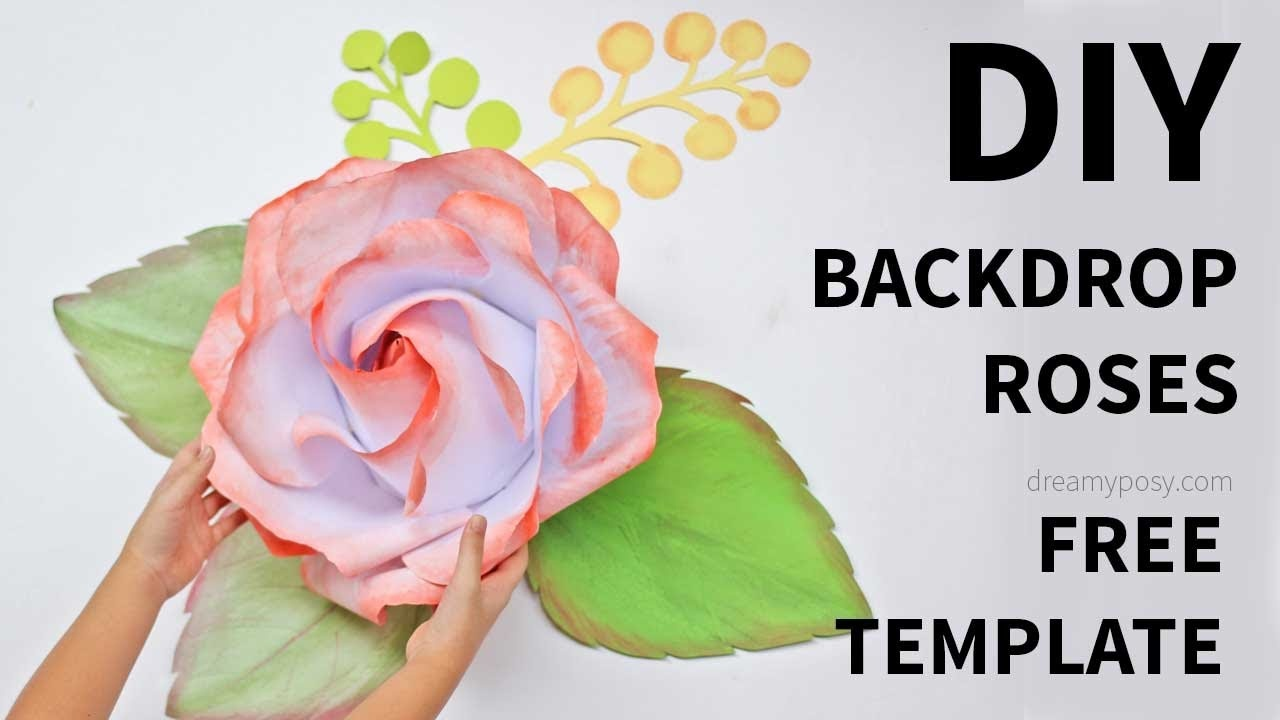 Free Template]: How To Make Large/giant Paper Rose - Youtube - Free Printable Templates For Large Paper Flowers