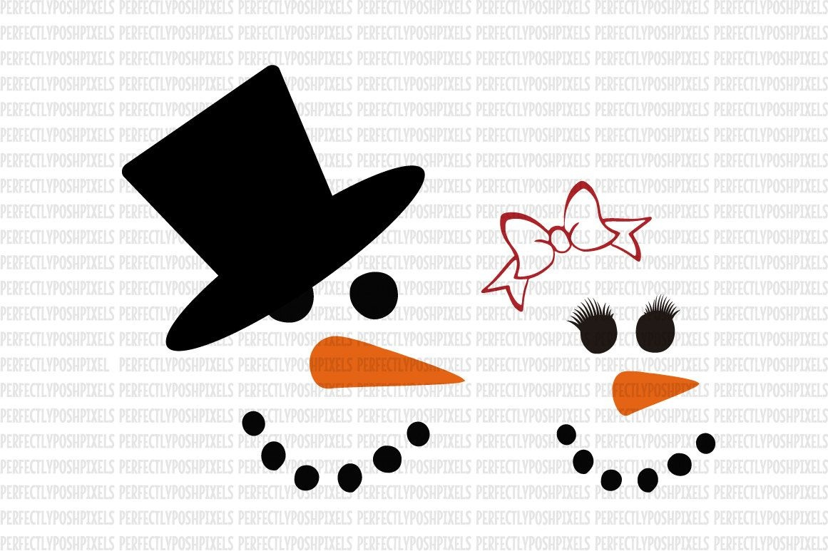 Free Template Snowman Face Template Printable | Svg | Snowman Faces - Free Printable Snowman Face Stencils