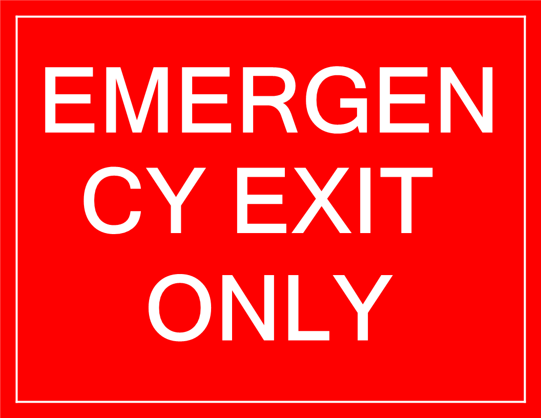 Free Temporary Emergency Exit Sign | Templates At - Free Printable Emergency Exit Only Signs