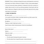 Free Texas Minor (Child) Power Of Attorney Form   Word | Pdf   Free Printable Guardianship Forms Texas