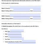 Free Texas Motor Vehicle Bill Of Sale Form | Pdf | Word (.doc)   Free Printable Texas Bill Of Sale Form