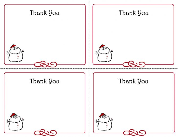 Free Printable Note Cards Template
