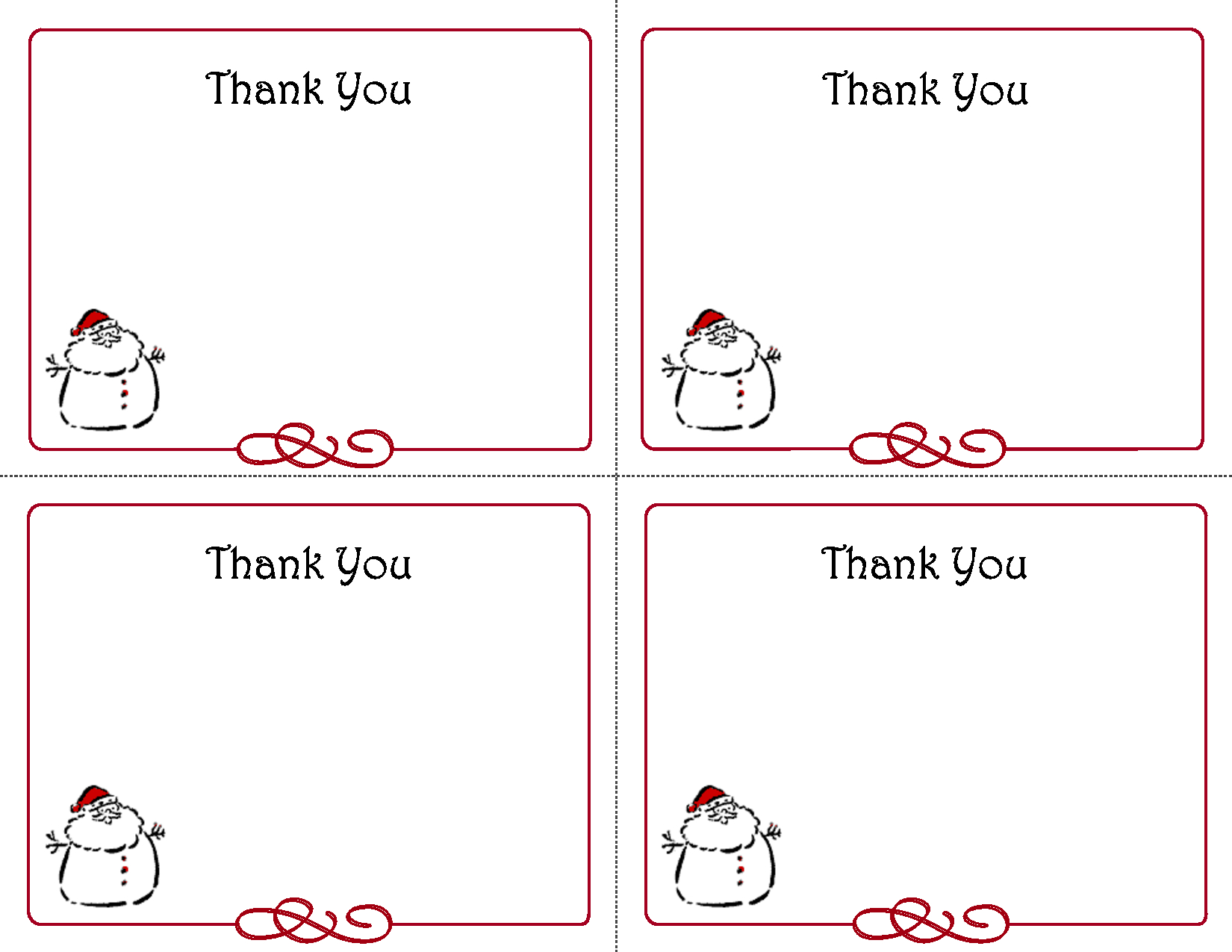 Free Thank You Cards Printable | Free Printable Holiday Gift Tags - Free Printable Note Cards Template