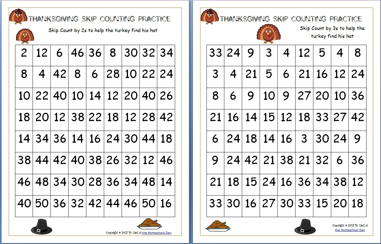 Free Thanksgiving Math Worksheets Archives - Homeschool Den - Math Worksheets Thanksgiving Free Printable