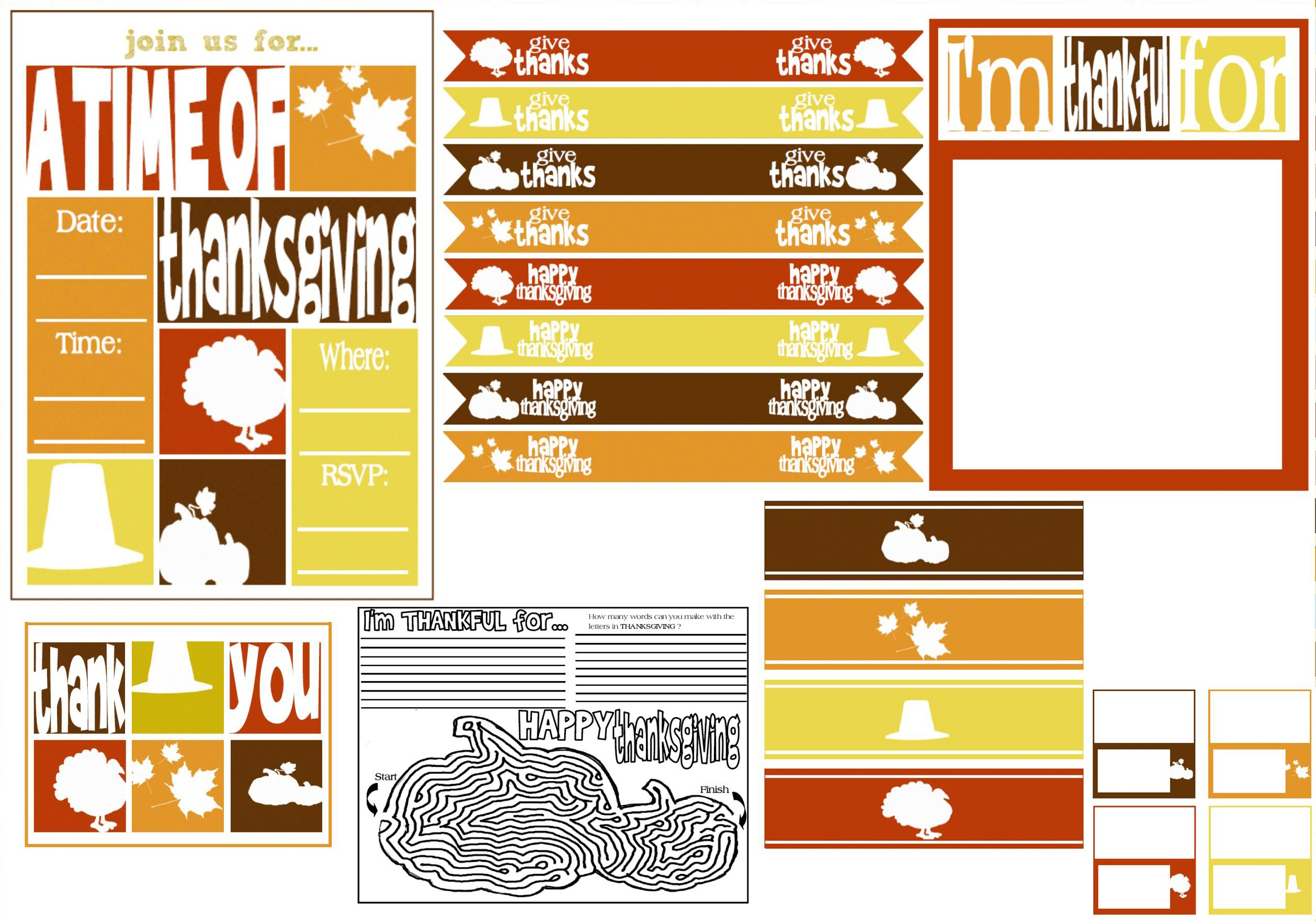 Free Thanksgiving Party Printables From Mimi's Dollhouse   Catch My - Free Dollhouse Printables