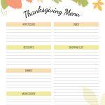 Free Thanksgiving Planner Printable   An Alli Event   Free Printable Thanksgiving Menu Template