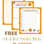 Free Thanksgiving Planner With 5 Printables To Help Keep You   Free Printable Thanksgiving Menu Template