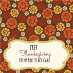 Free Thanksgiving Printables   Frugal Fanatic   Free Printable Thanksgiving Place Cards To Color