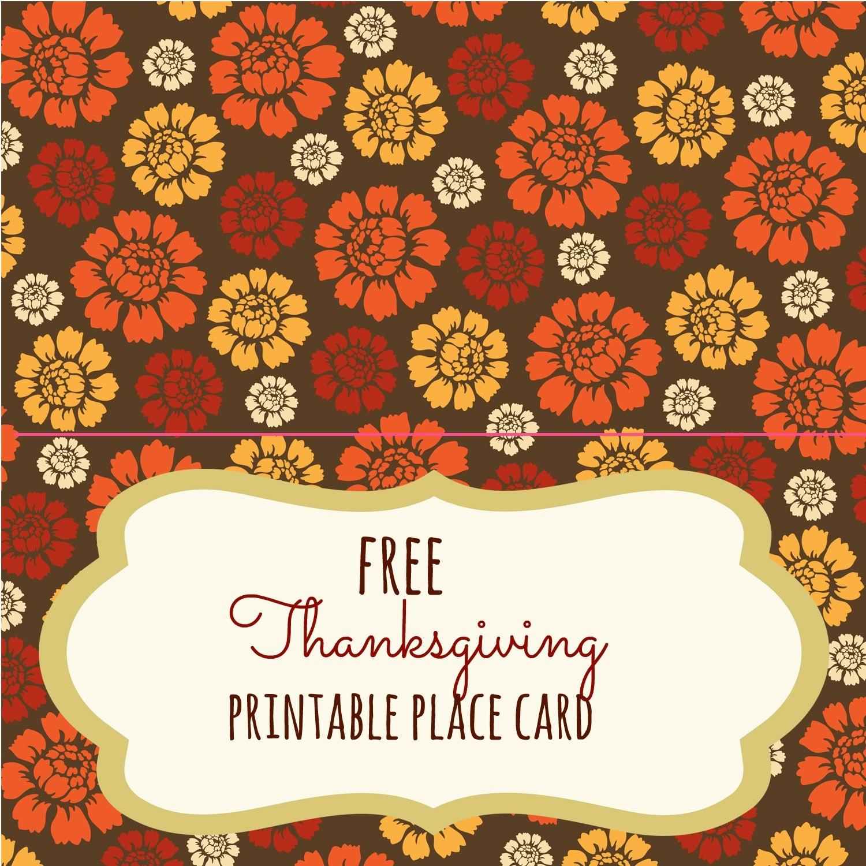 Free Thanksgiving Printables - Frugal Fanatic - Free Thanksgiving Printables Place Cards