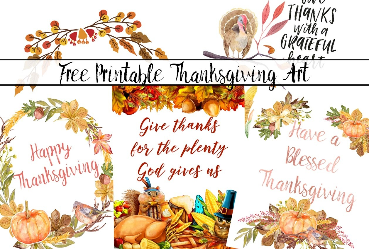 Free Thanksgiving Printables Round-Up - Free Thanksgiving Printables