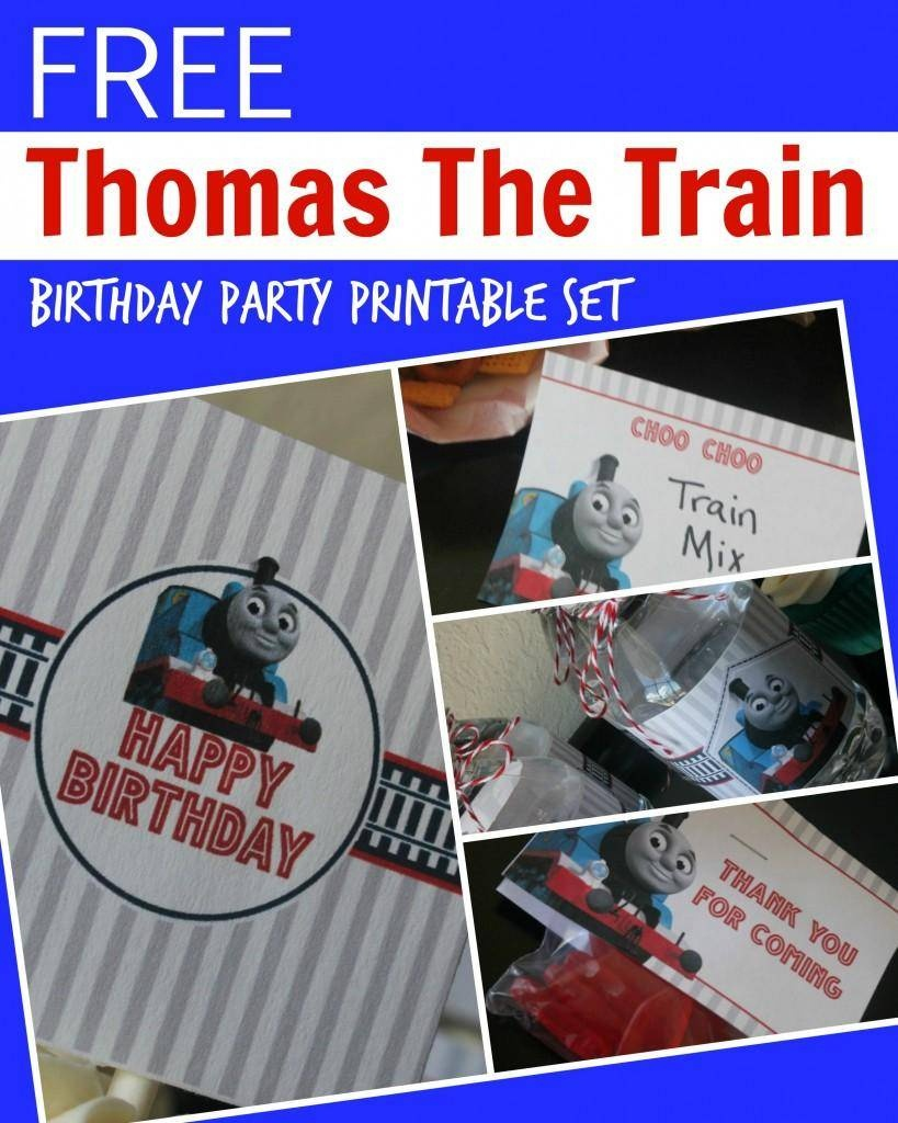 Free Thomas The Train Engine Birthday Party Printables - Passion For - Free Printable Train Cupcake Toppers