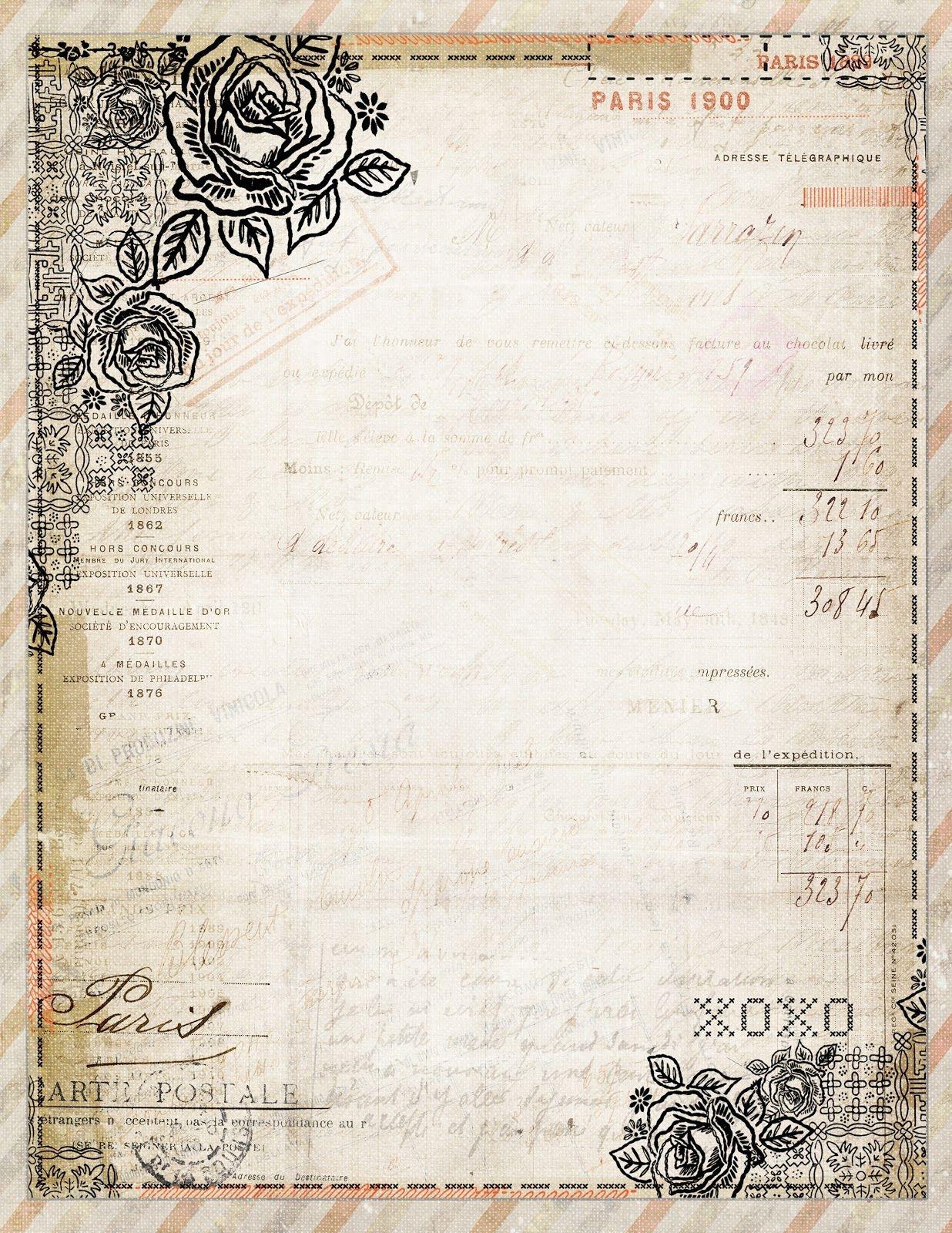 Free To Download! Printable Vintage Style French Stationaryjodie - Free Printable Vintage Stationary