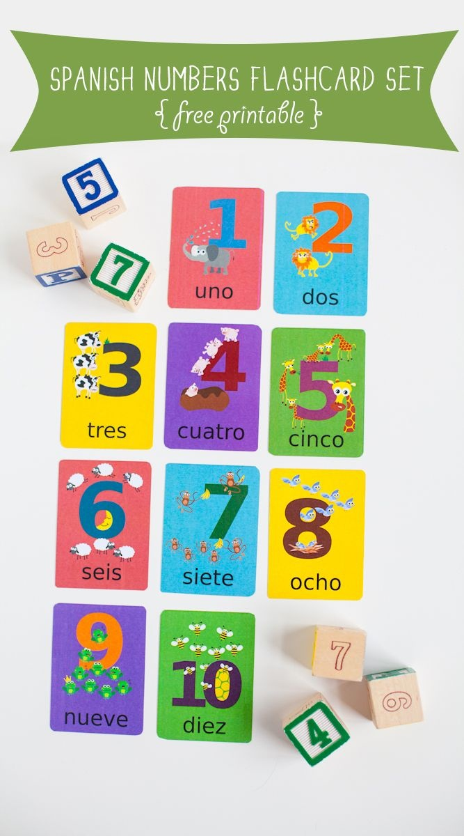 Free To Download Spanish Numbers Flashcards Printable   Free - Free Printable Spanish Numbers