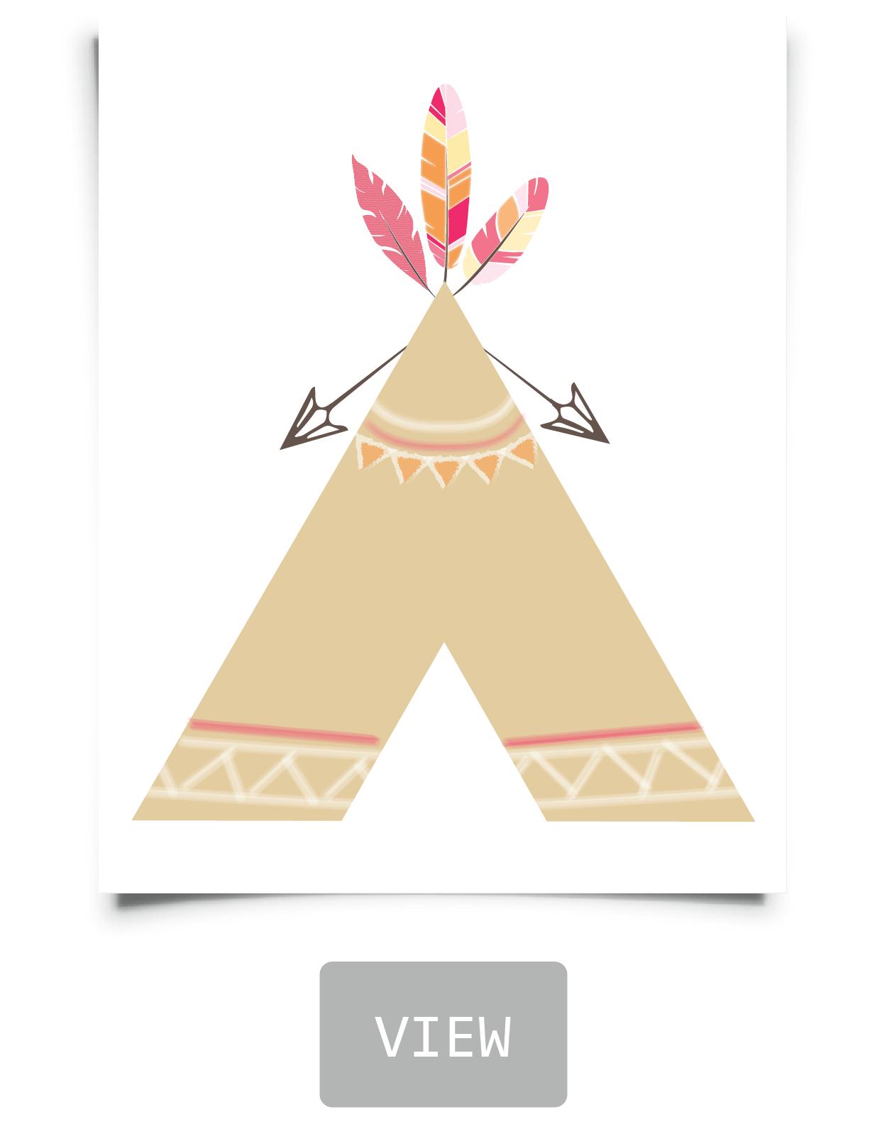 Free Tribal Nursery Printables In 2019 | Bedroom Ideas | Teepee - Free Printable Teepee