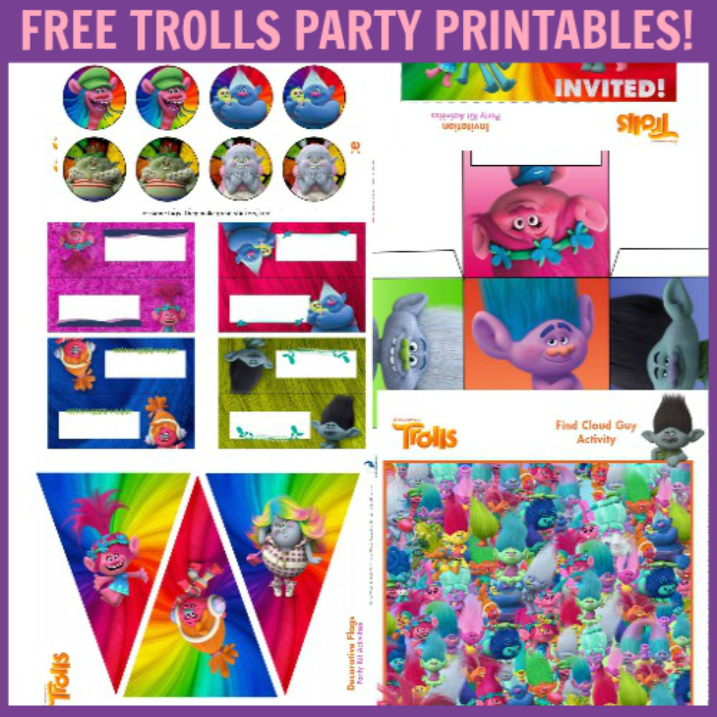 Free Trolls Party Pack | Trolls Birthday Party | Troll Party, Party - Free Trolls Printables