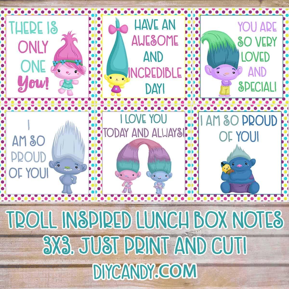 Free Trolls Printables: Lunchbox Notes - Diy Candy - Free Printable Trolls