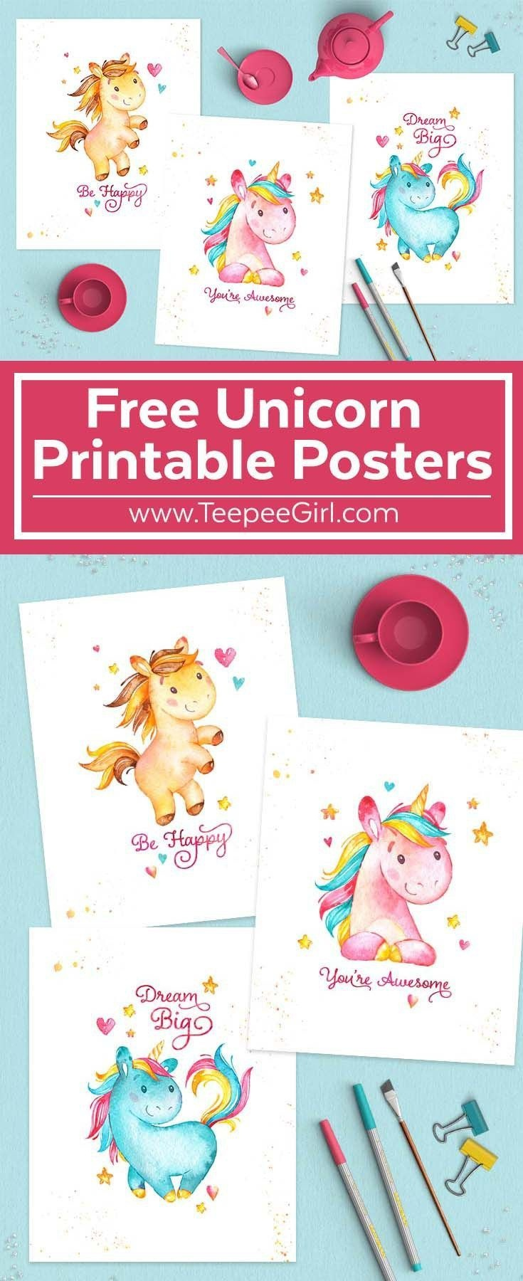 Free Unicorn Printables | Crafty 2 The Core~Diy Galore | Unicorn - Free Unicorn Birthday Printables
